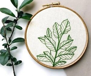 art, embroidery, and green image