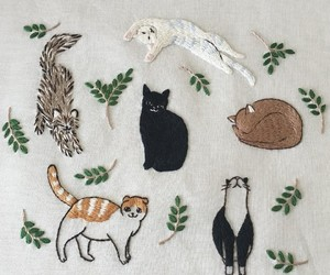 cat and embroidery image