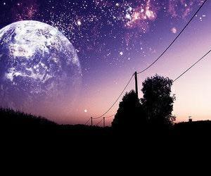 moon, stars, and sky image