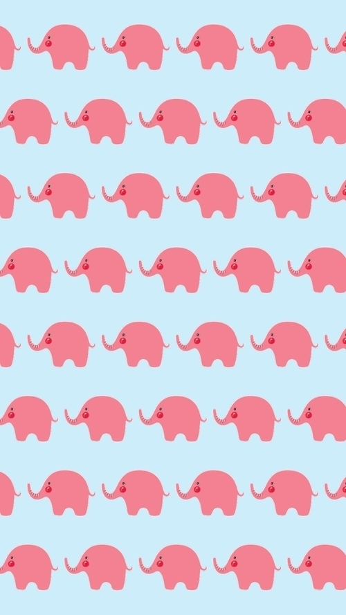 elephant, pattern, and pink image
