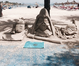 beach, sculpture, and beautiful image