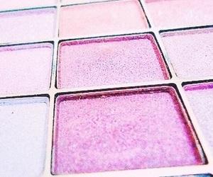 makeup, pink, and purple image