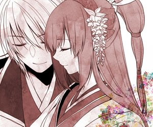 anime, warriors orochi, and couple image
