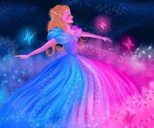 art, blue, and cinderella image