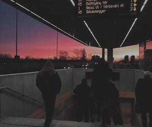 grunge, sunset, and sky image
