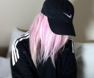 nike, hair, and pink image