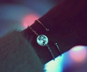 bracelet, moon, and accessories image
