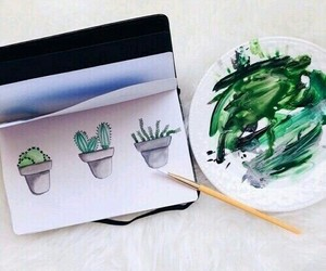 art, green, and plants image