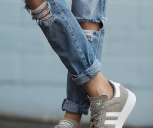 article, girl, and sneakers image