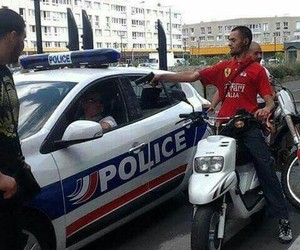 thug, police, and cité image