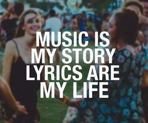 life, music, and Lyrics image