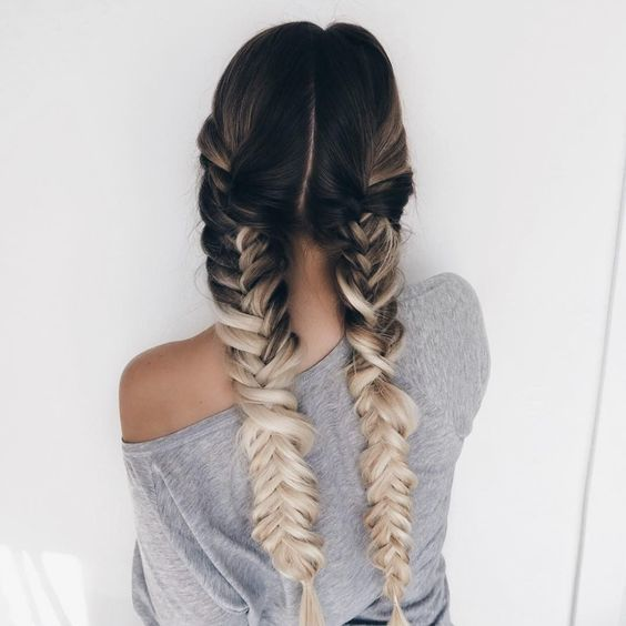 braids, hair, and fishtail image