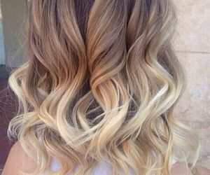 blonde, wavy, and hair image