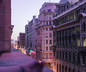 city, photography, and purple image