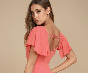 skater dress, dress, and coral pink image