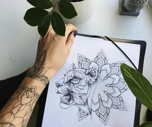 art, drawing, and illustration image