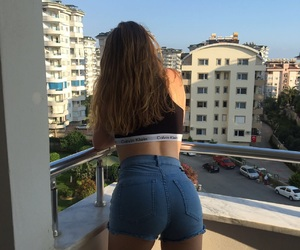 blue, booty, and palm image