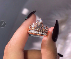 ring, nails, and crown image