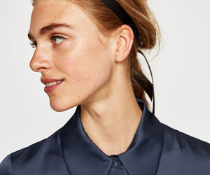 blouse, classic, and satin image