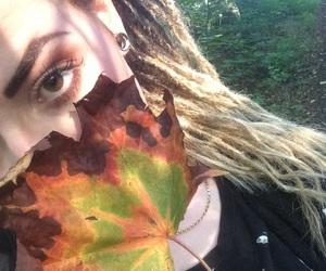 autumn, brown eyes, and dreadlocks image