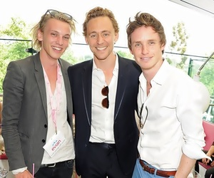 eddie redmayne, Jamie Campbell Bower, and tom hiddleston image