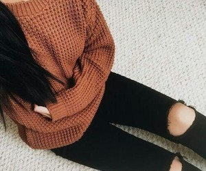 autumnal, fall, and sweater image