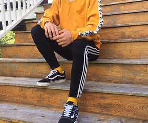 adidas, yellow, and vans image