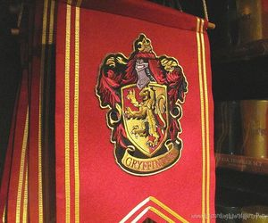 gryffindor, gold, and harry potter image