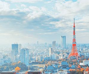 japan, tokyo, and tokyo tower image