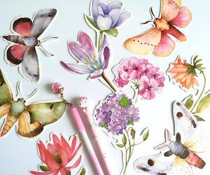 art journal, embellishment, and spring flower image