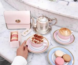 pink, coffee, and food image