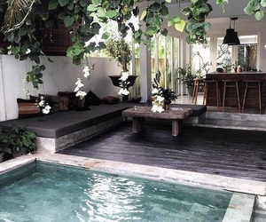 home, pool, and design image