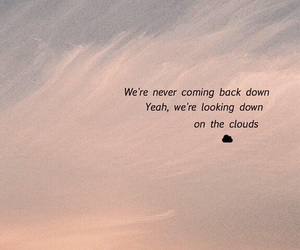 background, clouds, and Lyrics image