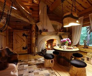 family, coziness, and woodenhouse image