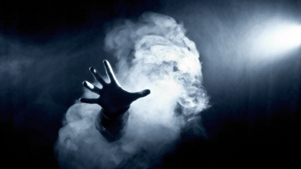 hand, smoke, and article image