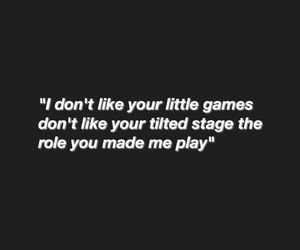 black, games, and Lyrics image