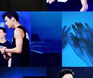 blue, chanyeol, and love image
