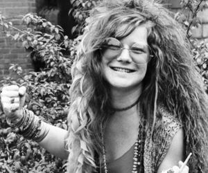 janis joplin, hippie, and black and white image