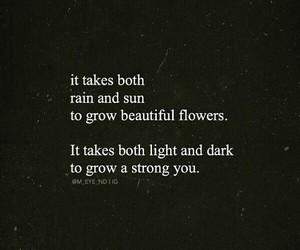 beautiful, dark, and flowers image