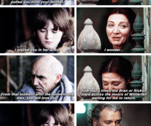 game of thrones, catelyn stark, and brandon stark image