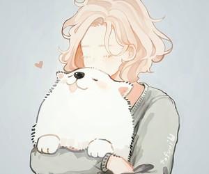 anime, dog, and kawaii image