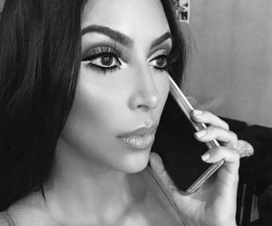 girl, kim kardashian, and makeup image