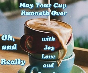 coffee, gm, and laughter image