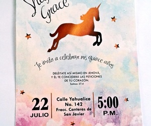invitation and unicorn image