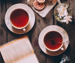 tea, book, and autumn image