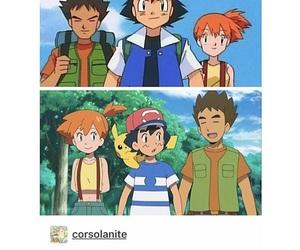 ash, Brock, and funny image