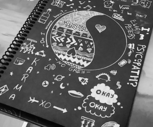 black, cool, and doodle image