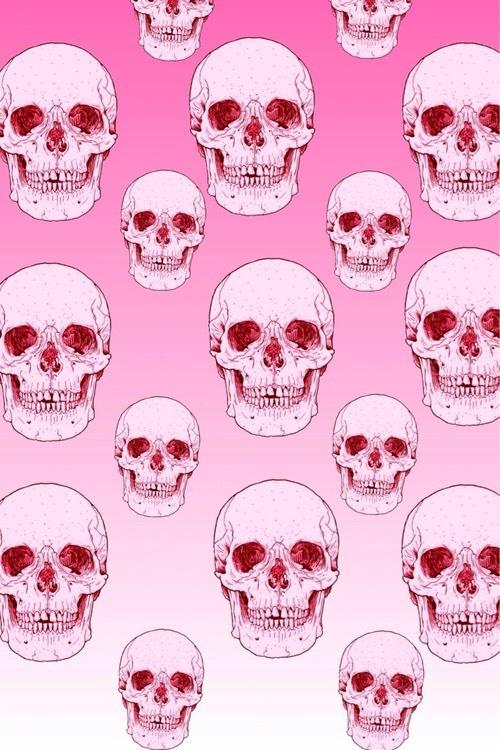 skull, wallpaper, and pink image