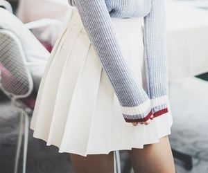 cute skirt and pleated skirt image