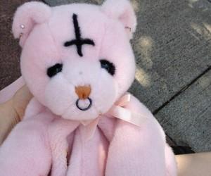 pink, goth, and satan image